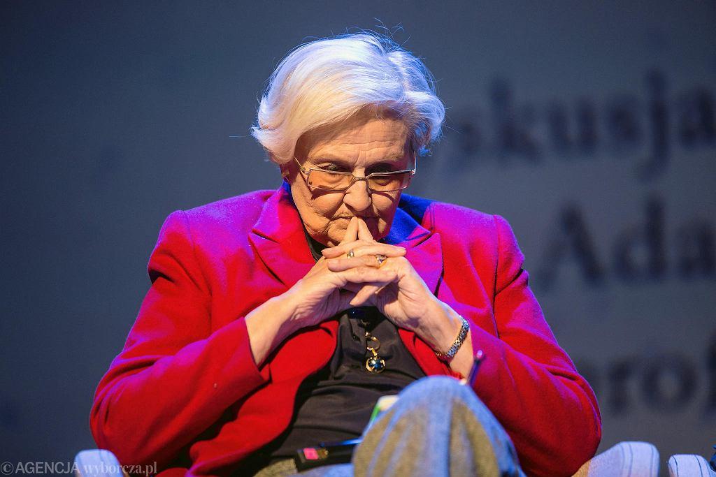 Prof. dr hab. Ewa Łętowska podczas debaty '20 lat Konstytucji. Stulecie odzyskania niepodległości. Co dalej ?'