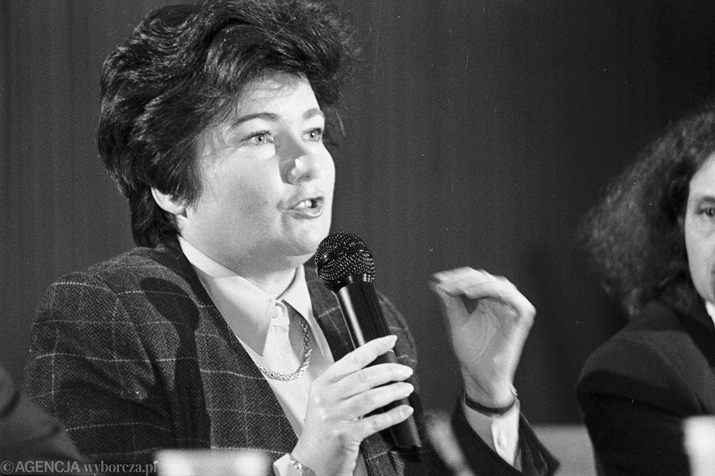 Hanna Gronkiewicz-Waltz w 1995 roku.