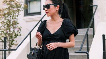 czarna sukienka na lato
