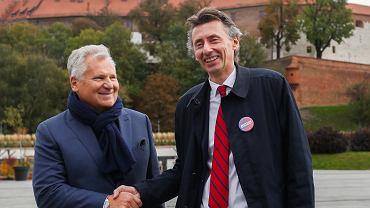 Wybory parlamentarne. Konferencja Aleksandra Kwaśniewskiego i Macieja Gduli.