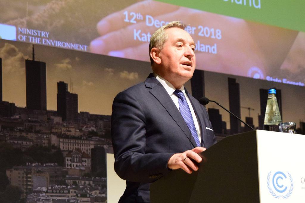 Minister środowiska Henryk Kowalczyk na COP24