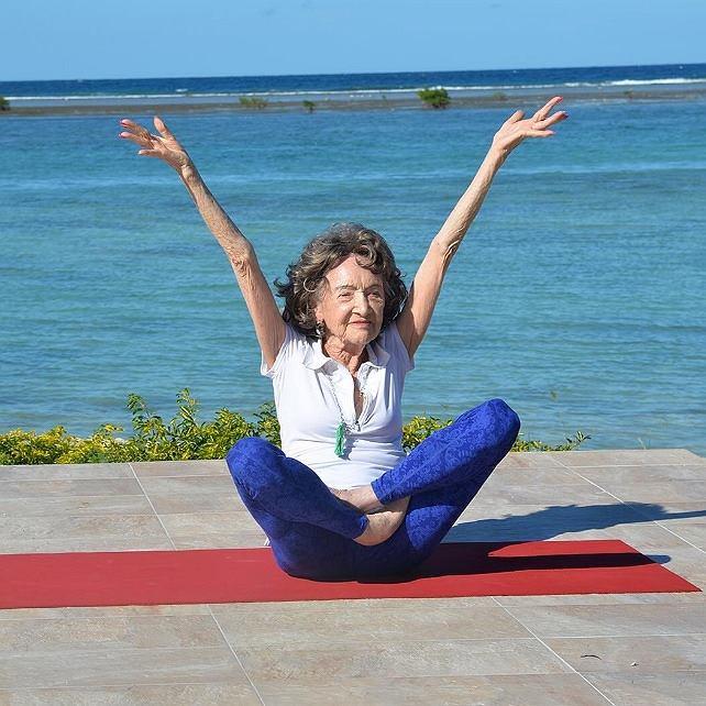 Najstarsza joginka na świecie