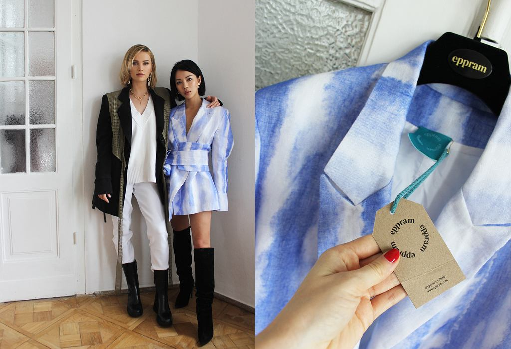 Odwiedziłyśmy pracownię założycielek marki Eppram, żeby zobaczyć, jak na żywo wyglądają ich projekty. Na zdjęciu Julia Kuczyńska i Lana Nguyen.