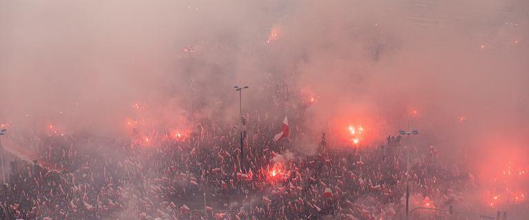 Warszawa w nacjonalistycznym smogu. Na mapie widać jakość powietrza