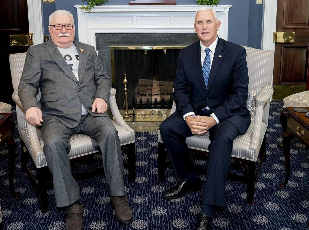 Lech Wałęsa spotkał się z Mike'em Pence'em