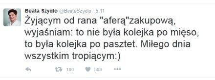 Wpis Beaty Szydło - komentarz do 'jedynki' 'SE'