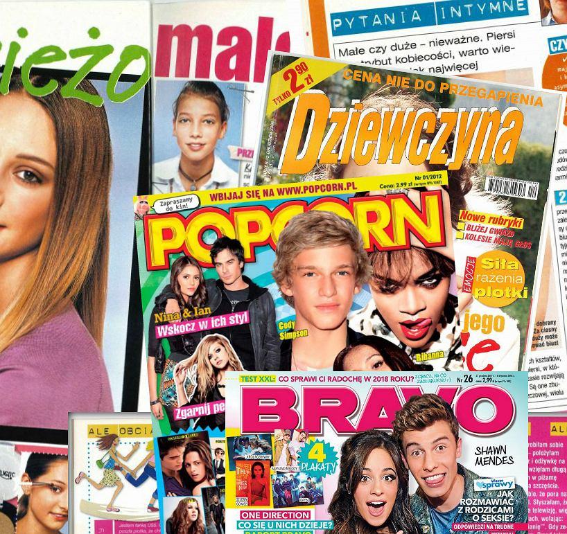 Pisma młodzieżowe: 'Dziewczyna', 'Popcorn', 'Bravo'