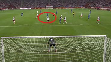 Harry Kane strzela gola w Polska - Anglia