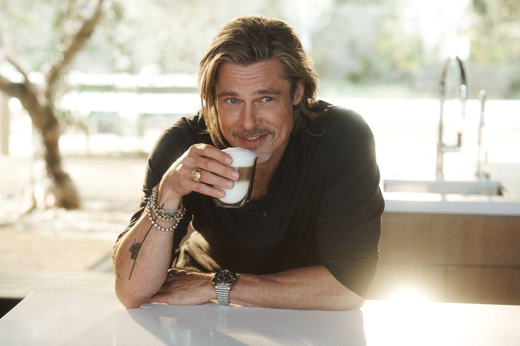 Brad Pitt, który został ambasadorem kampanii marki De'Longhi.