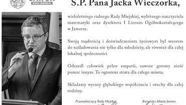 Jacek Wieczorek, dyrektor I Liceum Ogólnokształcące im. Ks. Bolka I w Jaworze.