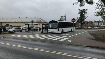 autobusy zastępczej komunikacji autobusowej linii ZB Brwinów - Warszawa Zachodnia.