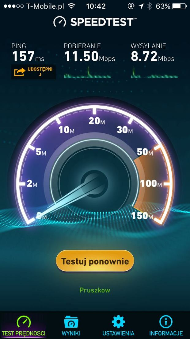 Speedtest FRITZ!Box 6820 LTE