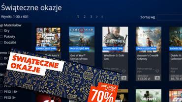 PlayStation przygotowało Świąteczną Promocję. Przeceniono 601 gier na PS4, taniej m.in. Wiedźmin 3