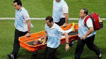 Neymar doznał kontuzji w meczu z Kolumbią