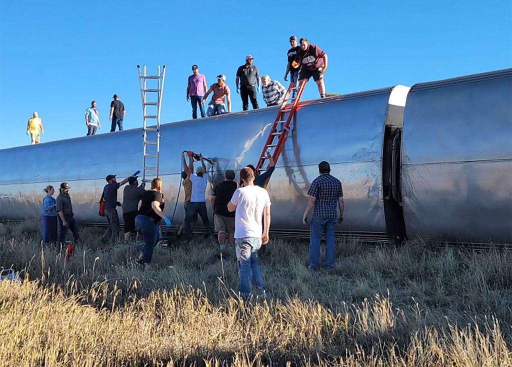 USA. Katastrofa kolejowa w Montanie