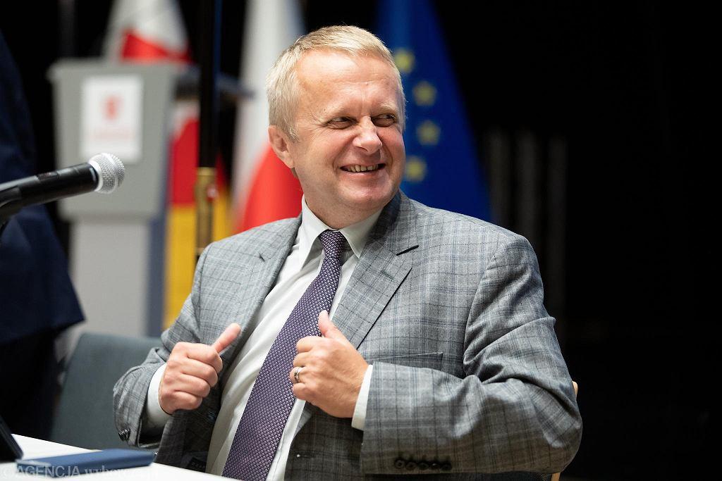Sesja Sejmiku Województwa Lubelskiego. Radny Mieczysław Ryba