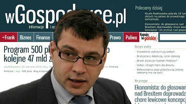 Zrzut ekranu z serwisu wGospodarce.pl