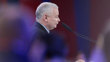 Jarosław Kaczyński na konwencji Prawa i Sprawiedliwości