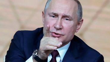 Władimir Putin - pisze na nowo historię. Doroczna konferencja władcy Rosji, Moskwa, 19 grudnia 2019