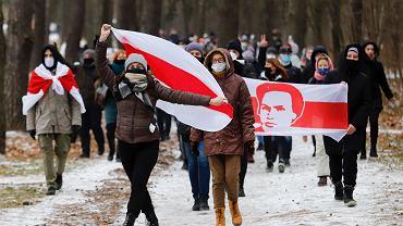Demonstracja przeciwników Aleksandra Łukaszenki w Mińsku, 13 grudnia 2020 r.