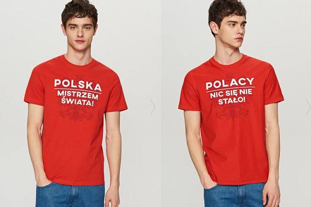 Dwustronny t-shirt na Mundial, którym można wyrazić emocje.