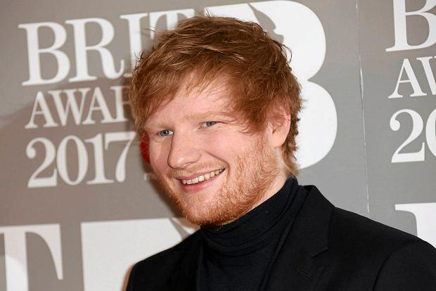 Ed Sheeran podczas Brit Awards, 22 lutego 2017