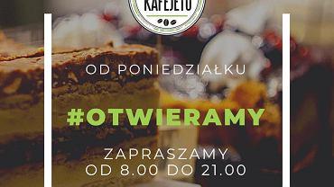 Kawiarnia Kafejeto przy Mazowieckiej działa od poniedziałku (18 stycznia). Można w niej na miejscu m.in. napić się kawy.