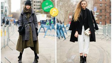 Warstwowe stylizacje z modnej ulicy
