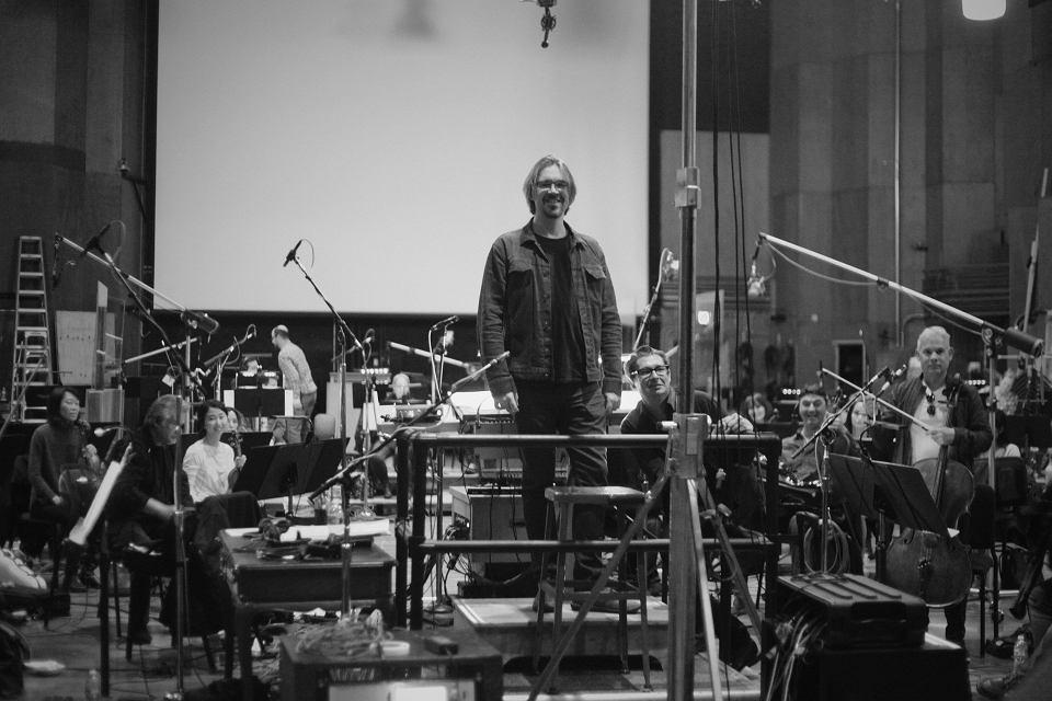 Mikołaj Stroiński w studio Fox Newman Scoring Stage 21st Century Fox
