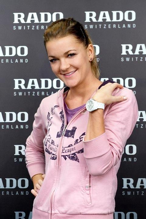 Agnieszka Radwańska i jej nowy zegarek