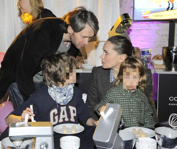 Aleksandra Nieśpielak i jej mąż Maciej Kubiak oraz synowie
