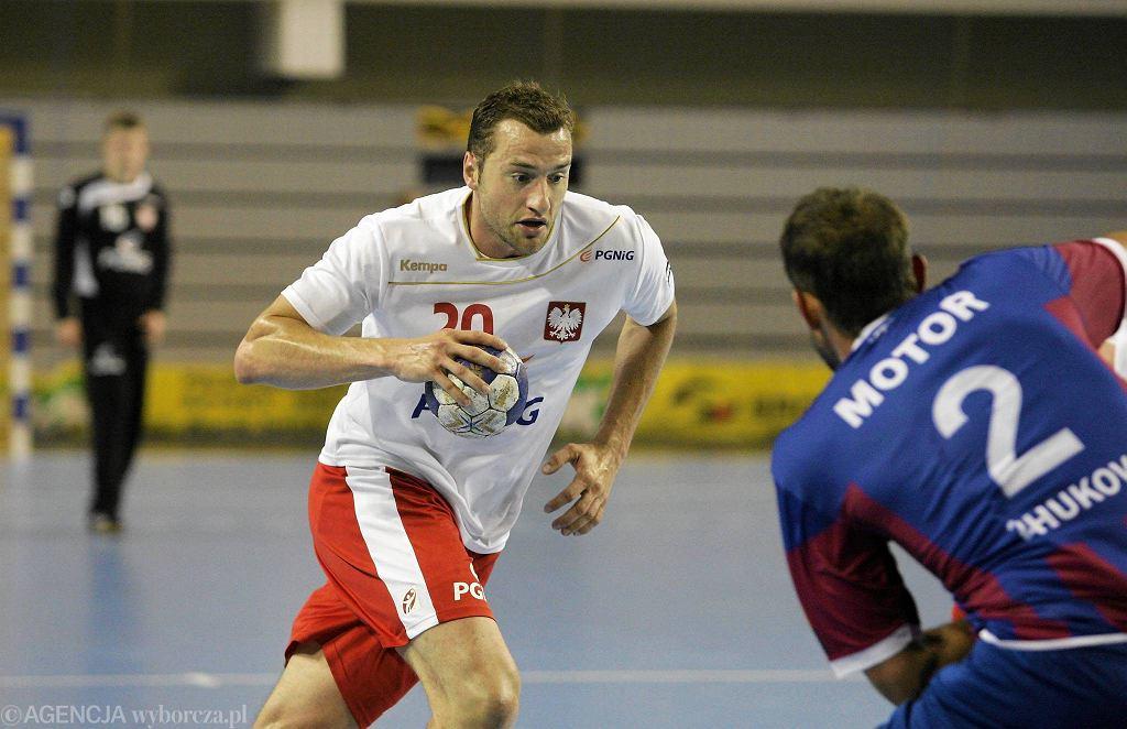 Mariusz Jurkiewicz podczas meczu Polska - Motor Zaporoże