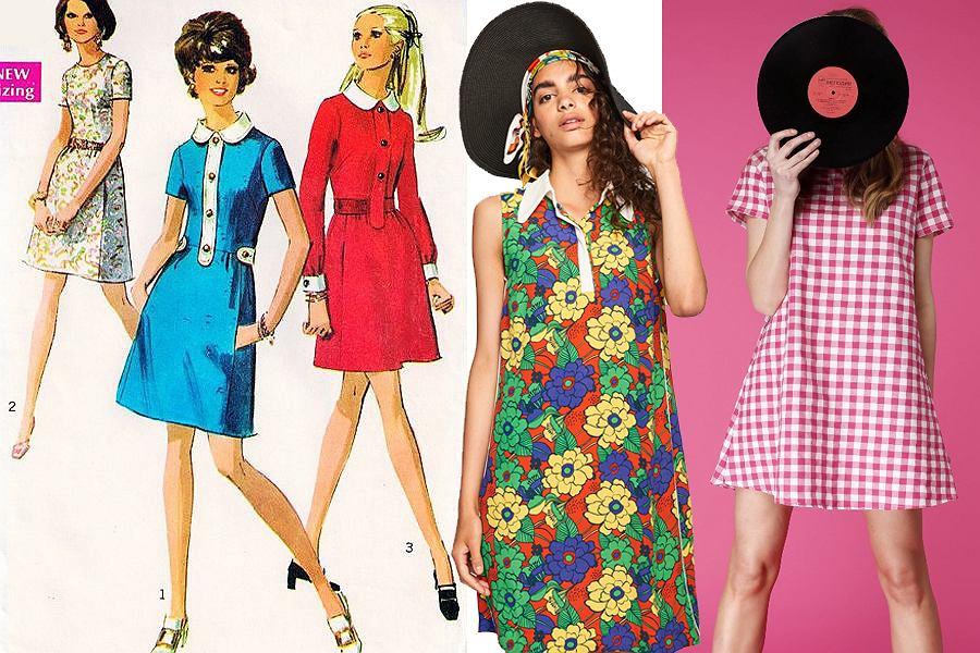 Sukienki mini w stylu lat 60.