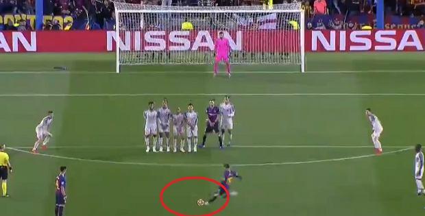 Tak Lionel Messi strzelił pięknego gola z rzutu wolnego