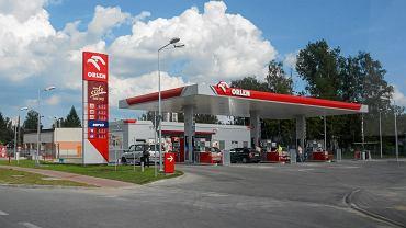 Stacja paliwowa Orlenu, zdjęcie ilustracyjne