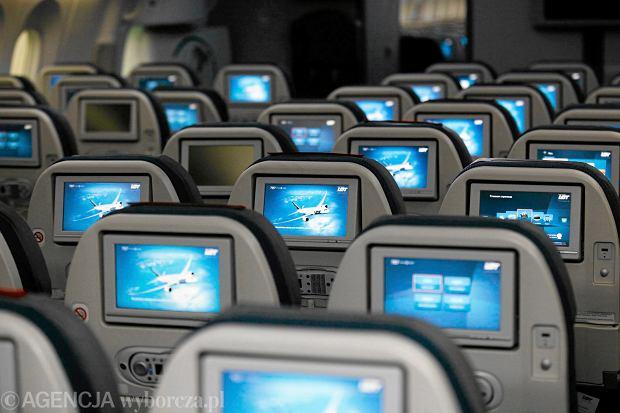 Wnętrze Dreamlinera w barwach LOT-u