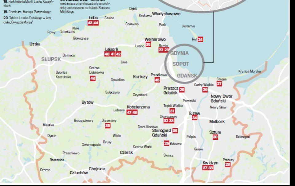 Mapa Miejsc Upamietniajacych Ofiary Katastrofy Smolenskiej Na