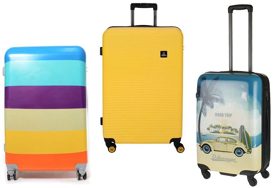 Kolorowe walizki na wakacje