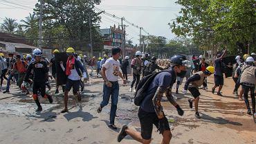 Protesty w Mjanmie. Zdjęcie ilustracyjne