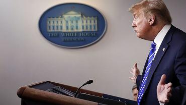 Donald Trump mówi o koronawirusie. Waszyngton, Biały Dom, 23 kwietnia 2020 r.