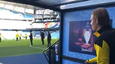 Reakcja Haalanda na widok stadionu Manchesteru City