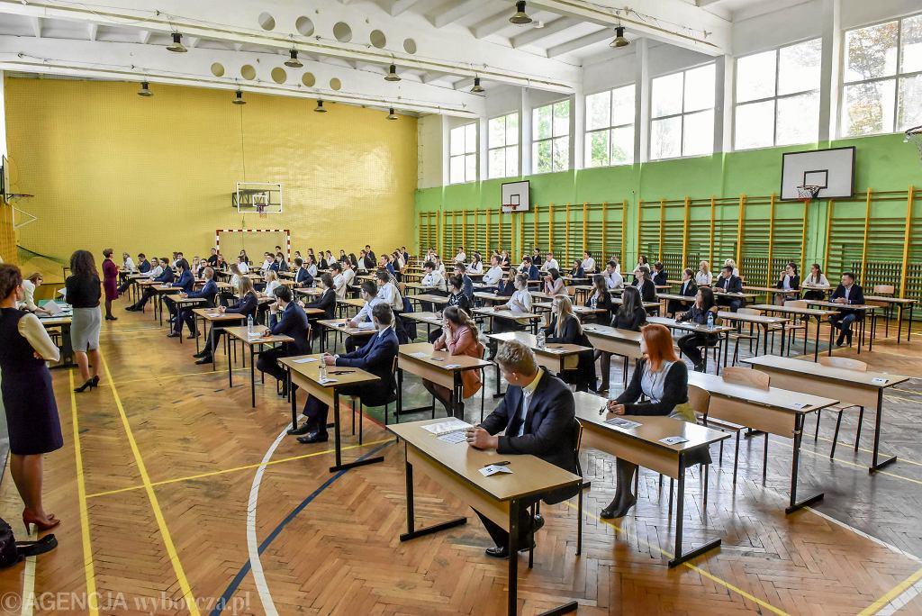 Egzamin dojrzałości w IV Liceum Ogólnokształcącym w Zielonej Górze.