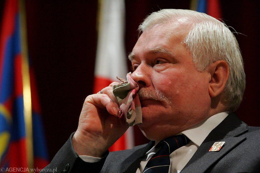 Lech Wałęsa odbiera tytuł Honorowego Obywatela Szczecina (kwiecień 2009)