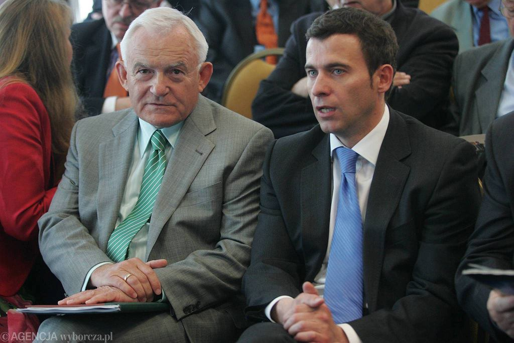 Leszek Miller i Wojciech Olejniczak w 2009 r.