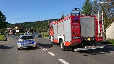 Potrącenie dwóch rowerzystek w Wilkowicach na Śląsku. Jedną z poszkodowanych jest kolarka Rita Malinkiewicz