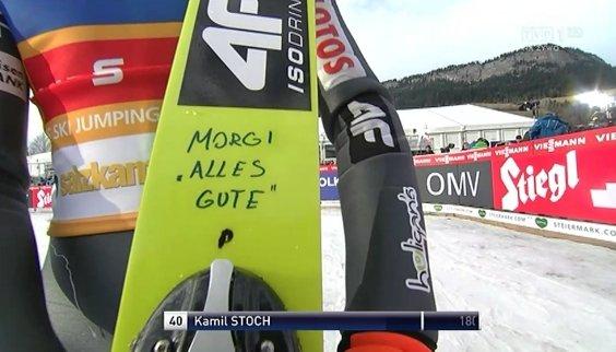 Kamil Stoch wspiera Thomasa Morgensterna