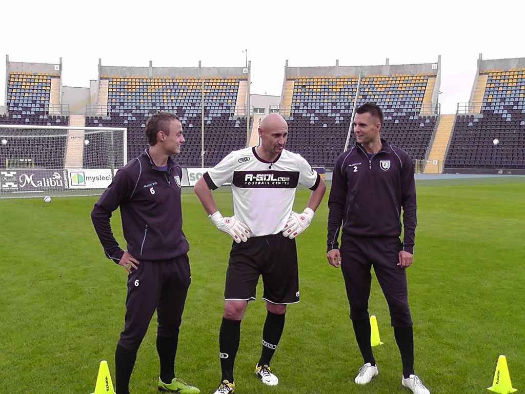 Michał Masłowski, Grzegorz Szamotulski i Piotr Petasz w trakcie nagrywania programu