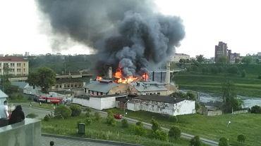 Pożar dawnego pałacu Sapiehów - zabytkowego browaru w Grodnie.