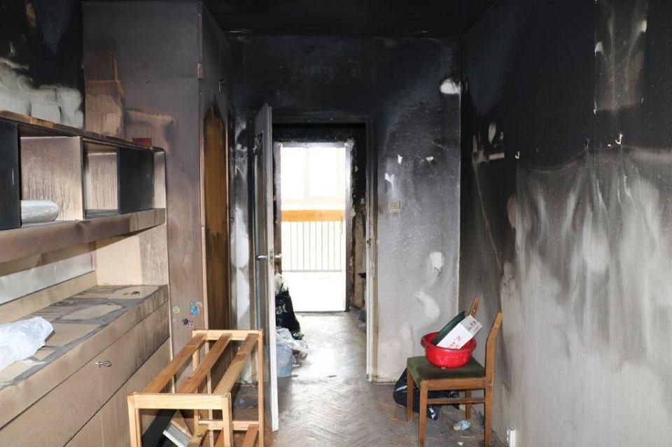 Mieszkanie na Ursynowie spłonęło w drugiej połowie marca.