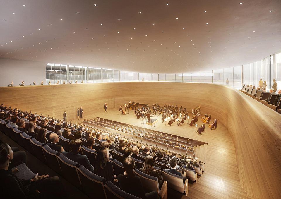 Wizualizacje Filharmonii Pomorskiej po rozbudowie i remoncie przygotowane przez Pracownię Kozień Architekci